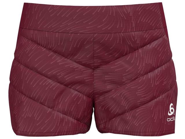 Odlo Irbis X-Warm Spodnie krótkie Kobiety, czerwony